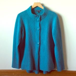 Eileen Fisher blue cardigan